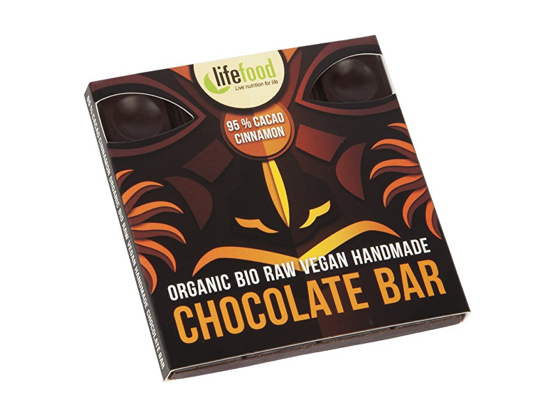 Lifefood Bio čokoláda z nepraženého kakaa 95% kakao se skořicí raw 35g