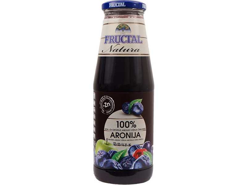 Fructal Šťáva NATURA z hroznů, jablek, višní, aronie a černého bezu 0,7l