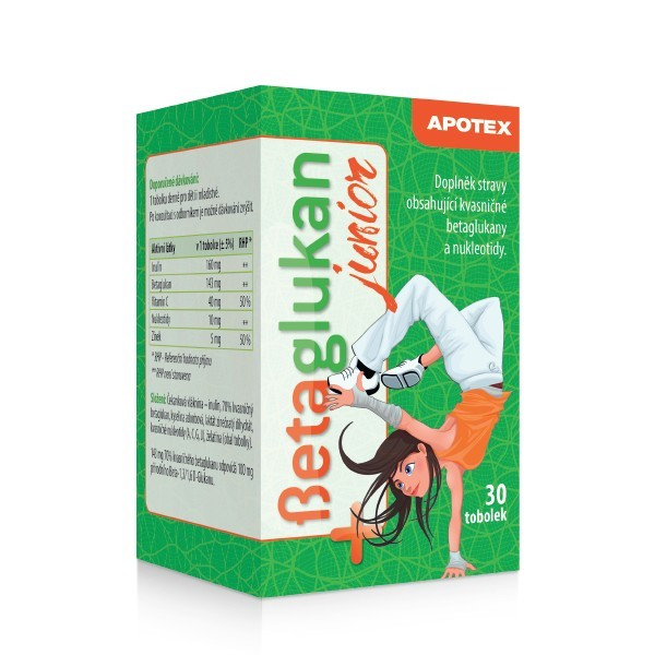 Betaglukan JUNIOR 100 mg 30 tob.