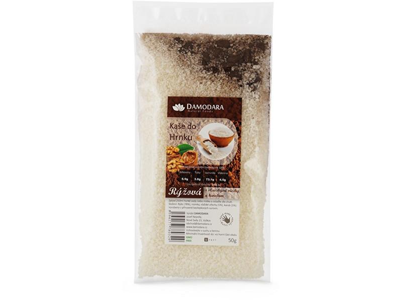 Zobrazit detail výrobku Damodara Instantní kaše do hrnku rýžová s vlašskými ořechy a karobem 50g