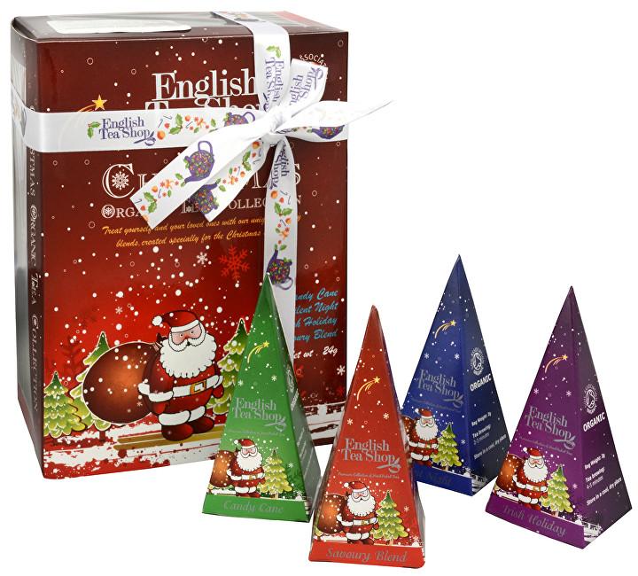 Zobrazit detail výrobku English Tea Shop Dárková kolekce 12 pyramidek Červený Santa 4 příchutě