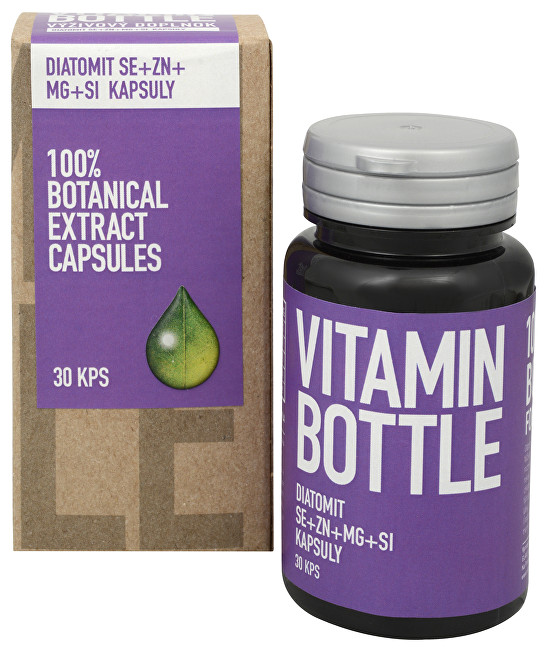 Vitamin-Bottle Diatomit Se + Zn + Mg + Si 30 kapsúl