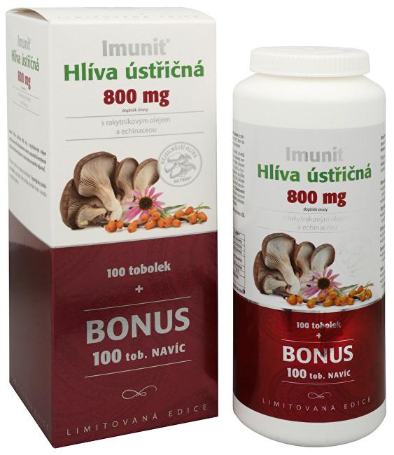 Imunit Hlíva ústřičná 800 mg s rakytníkovým olejem a Echinaceou 100 tob. + 100 tob. ZDARMA