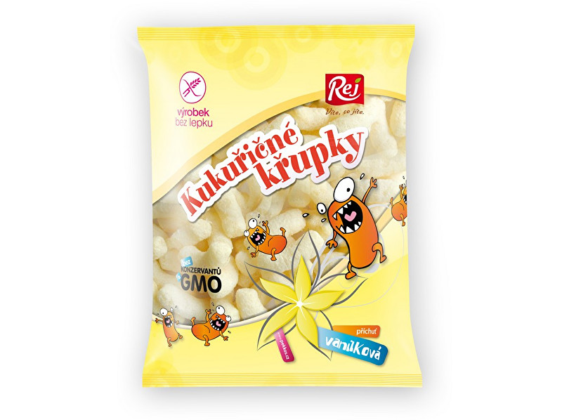 REJ S.R.O. Kukuřičné křupky vanilkové 90g