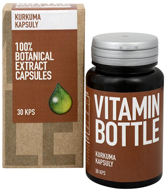 Fotografie Vitamin-Bottle Kurkuma 30 kapslí