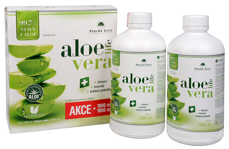 Zobrazit detail výrobku Pharma Activ AloeVeraLife 1+1 ZDARMA (1000 ml + 1000 ml)