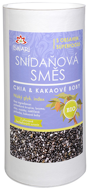 Zobrazit detail výrobku Iswari BIO Snídaňová směs Chia-Kakaové boby 800 g