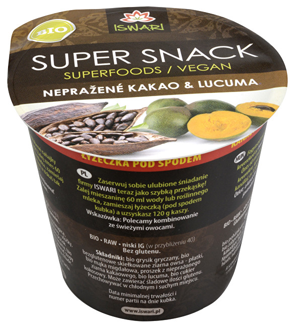 Iswari Bio SuperSnack Raw kakao a lucuma 60 g