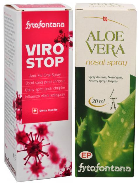 Fytofontana ViroStop ústní sprej 30 ml + Aloe vera nosní spray 20 ml ZDARMA