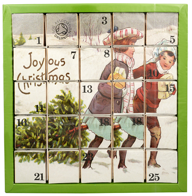 Adventní kalendář Radostné vánoce - luxusní BIO čaje 25 pyramidek/13 příchutí