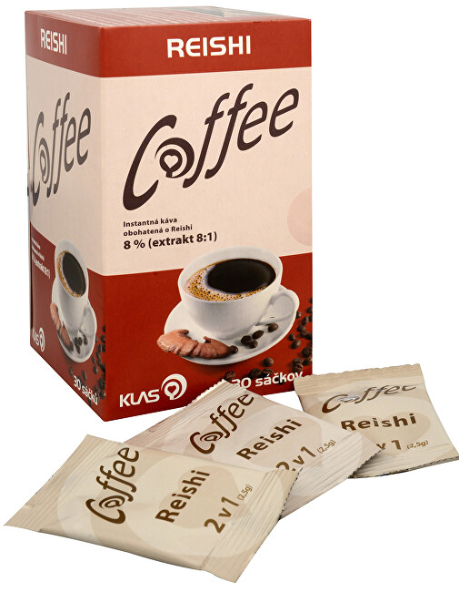 Klas Coffee Reishi 30 sáčků - SLEVA - poškozená krabička