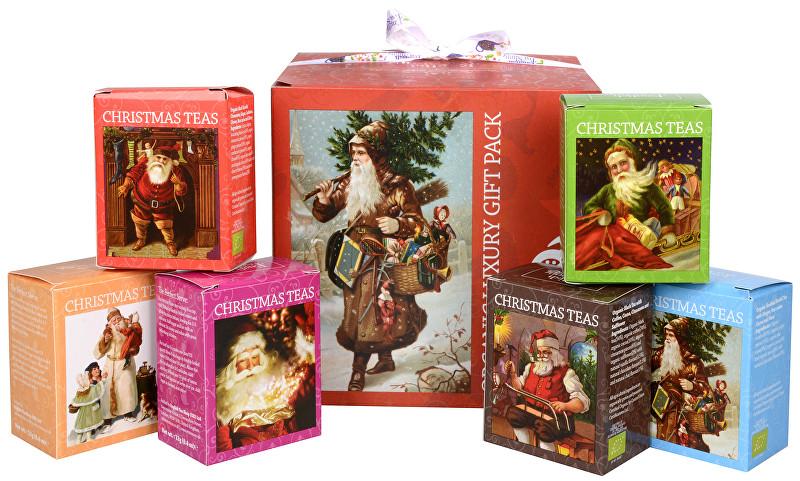 Dárková kolekce - luxusní BIO čaje v červené kostce 96 sáčků/6 příchutí