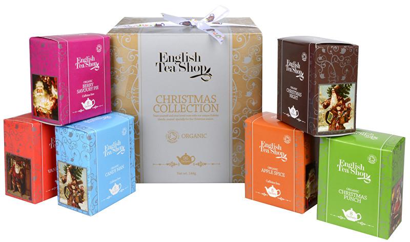 Dárková kolekce - luxusní BIO čaje ve zlaté kostce 96 sáčků 6 příchutí