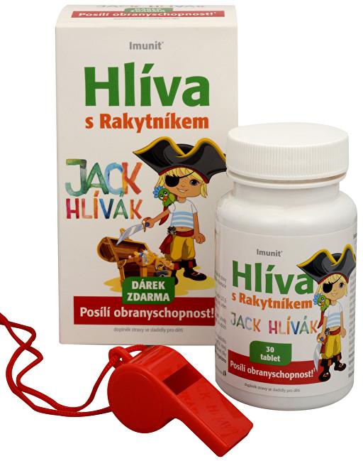 Imunit Hlíva ústřičná pro děti s rakytníkem Jack Hlívák 30 tbl.