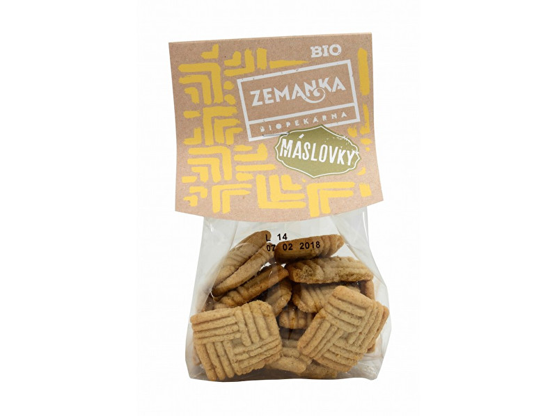 Zobrazit detail výrobku Biopekárna Zemanka Bio Máslové sušenky s ovesnými vločkami 100 g