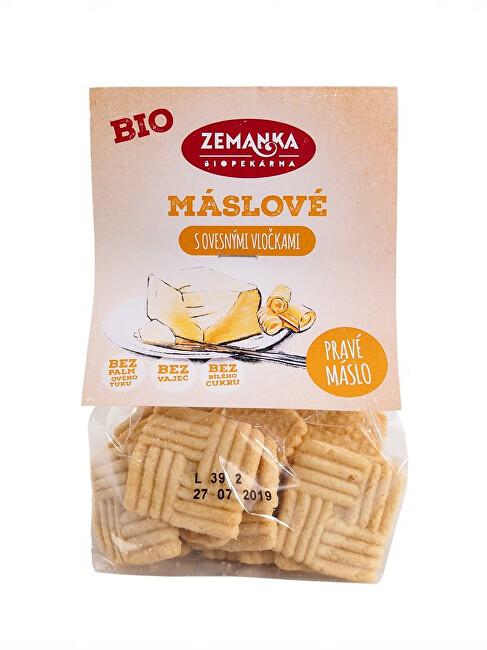 Biopekárna Zemanka Bio Maslové sušienky s ovsenými vločkami 100 g