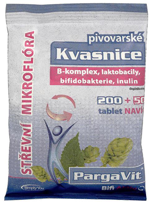 Zobrazit detail výrobku Simply You PargaVit Pivovarské kvasnice Bifi Aktiv 200 tbl. + 50 tbl. ZDARMA