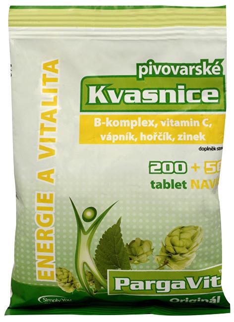 Zobrazit detail výrobku Simply You PargaVit Pivovarské kvasnice Bifi Original 200 tbl. + 50 tbl. ZDARMA