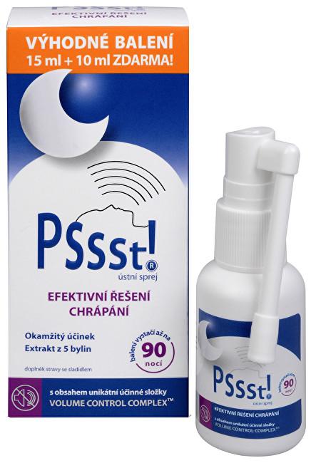 Zobrazit detail výrobku Simply You Pssst! ústní sprej proti chrápání 15 ml + 10 ml ZDARMA