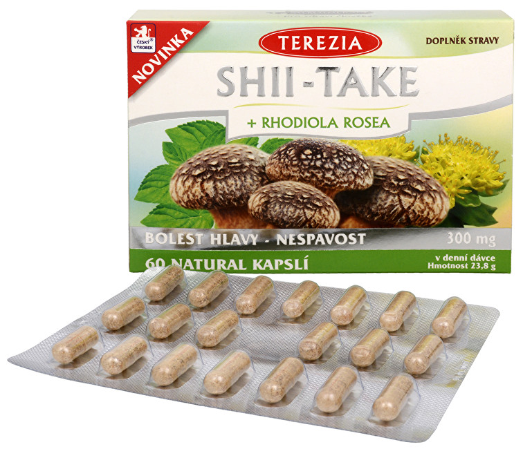Zobrazit detail výrobku Terezia Company Shii-Take + Rhodiola rosea 60 kapslí