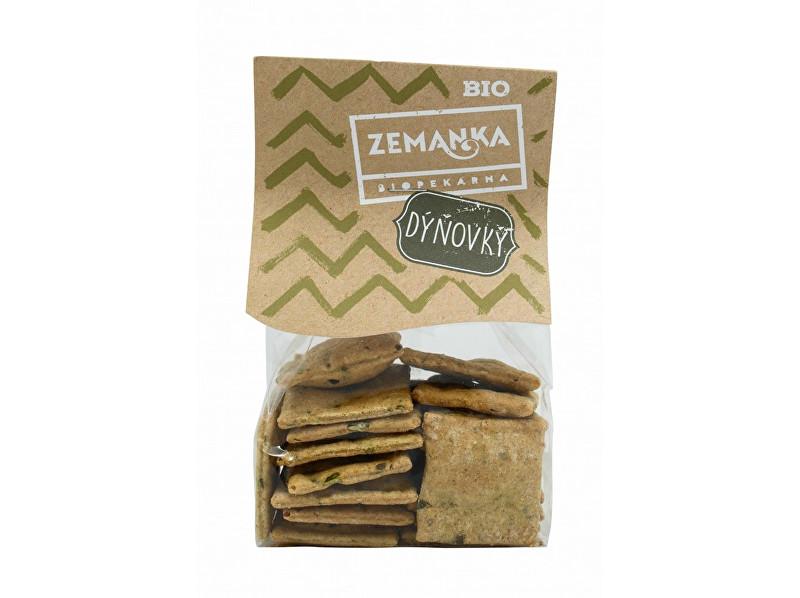 Zobrazit detail výrobku Biopekárna Zemanka Bio Špaldové krekry s dýňovým semínkem a česnekem 100g