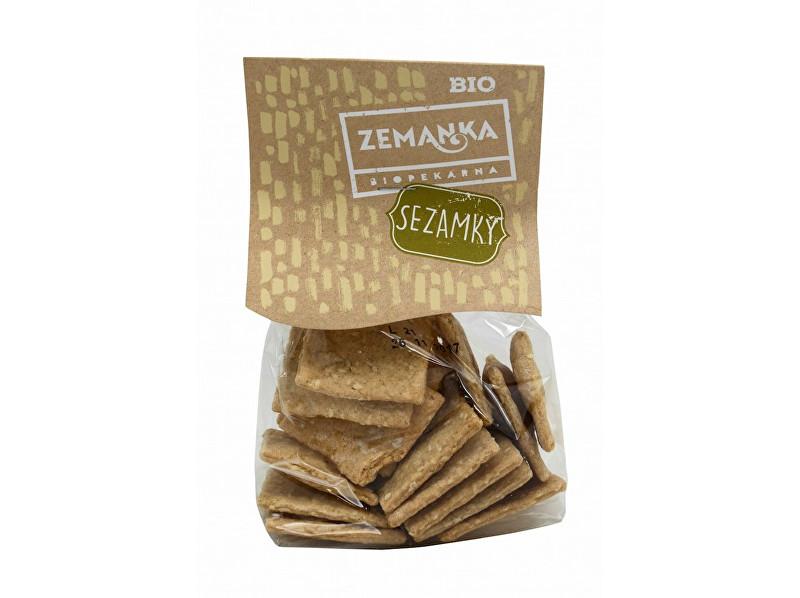 Zobrazit detail výrobku Biopekárna Zemanka Bio Špaldové krekry se sezamem a sojovou omáčkou 100 g