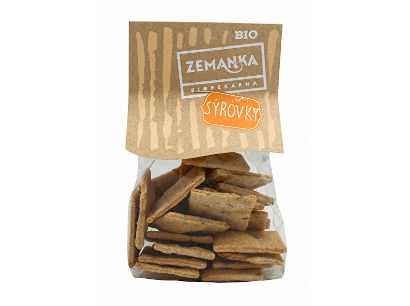 Zobrazit detail výrobku Biopekárna Zemanka Bio Špaldové krekry se sýrem a slunečnicí 100 g