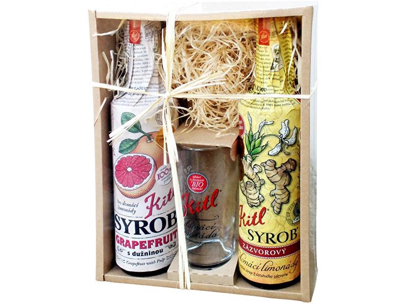 Zobrazit detail výrobku Kitl Syrob dárkové balení (2x500ml+sklenička) grapefruit a zázvor