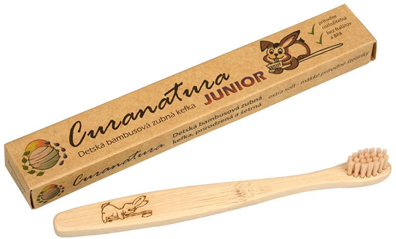 Zobrazit detail výrobku Dětský bambusový zubní kartáček Junior Curanatura ultra soft