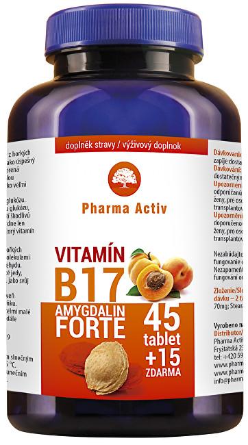 Zobrazit detail výrobku Pharma Activ Amygdalin FORTE vit. B17 45 tbl. + 15 tbl. ZDARMA