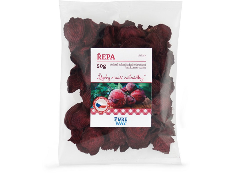Pure Way Červená repa - chipsy 50g