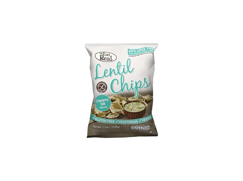 Zobrazit detail výrobku EatReal Čočkové chipsy – s krémovým koprem 40g