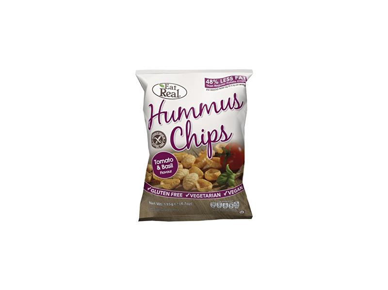 EatReal Hummus chipsy – rajče a bazalka 45g