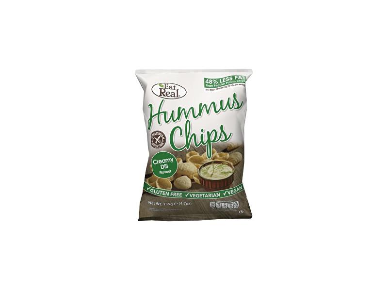 Zobrazit detail výrobku EatReal Hummus chipsy – s krémovým koprem 45g