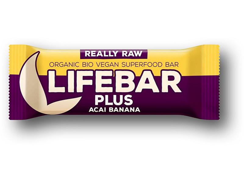 Zobrazit detail výrobku Lifefood Bio tyčinka Lifebar Plus acai banán 47g