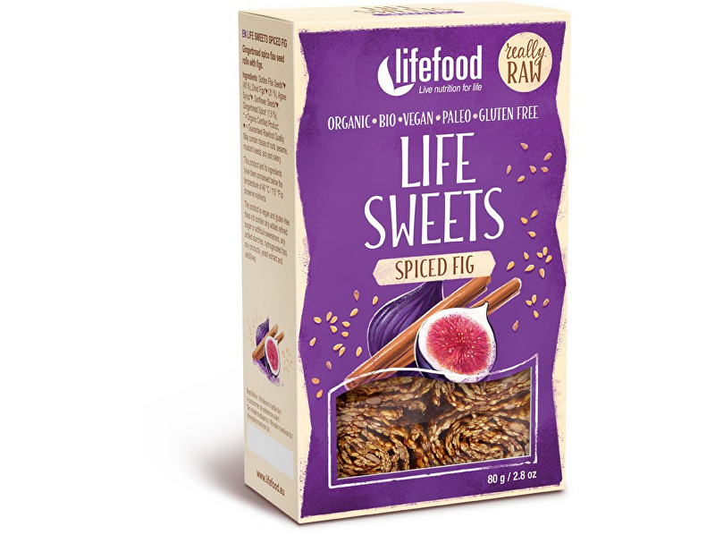 Lifefood Bio Life sweets Perníkové s fíky 80g