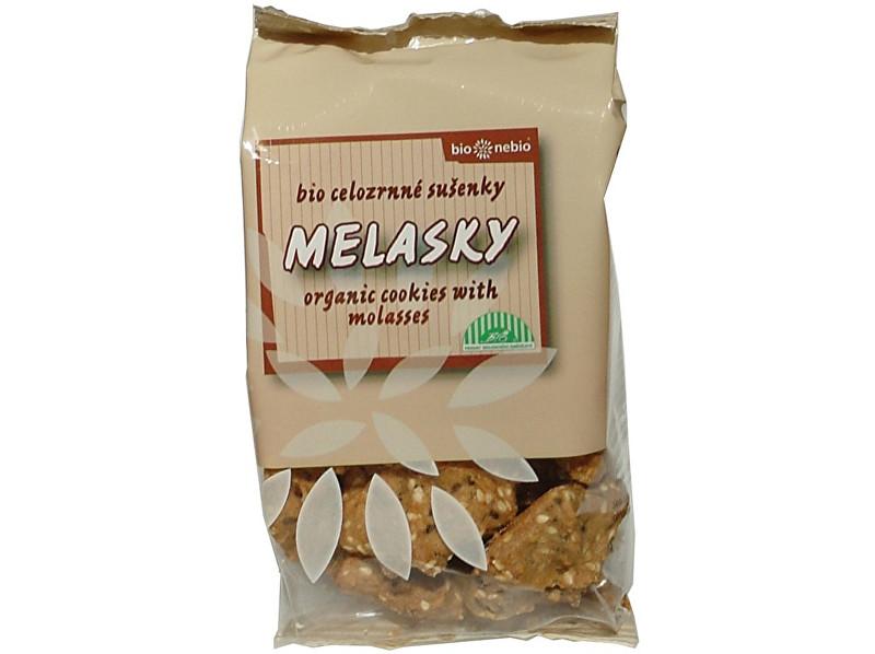 Bio nebio s. r. o. Bio Melasky - celozrnné sušienky 130g