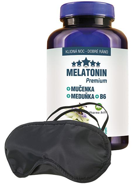 Pharma Activ Melatonin Premium Mučenka Meduňka B6 100 tablet + zdarma škraboška