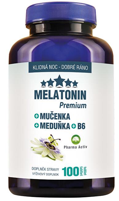 Pharma Activ Melatonin Premium Mučenka Meduňka B6 100 tablet
