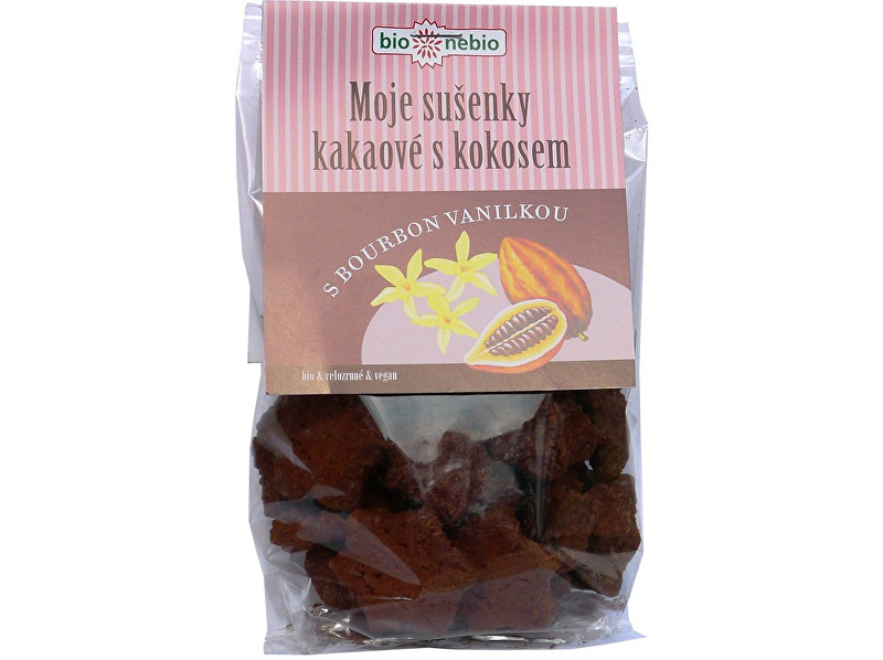 Bio nebio s. r. o. Bio Moje sušienky kakaové s kokosom 130g