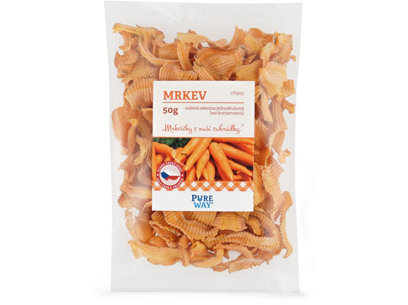 Pure Way Mrkva - chipsy 50g