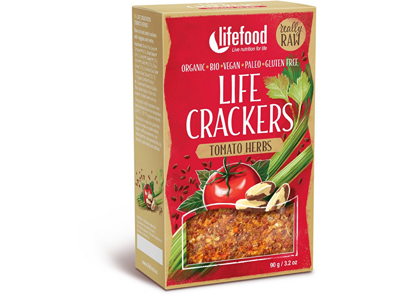 Lifefood Bio Life crackers rajčatové 90g