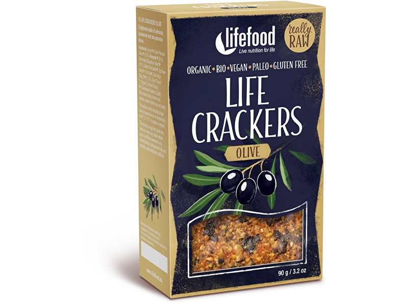 Lifefood Bio Life crackers olivové 90g