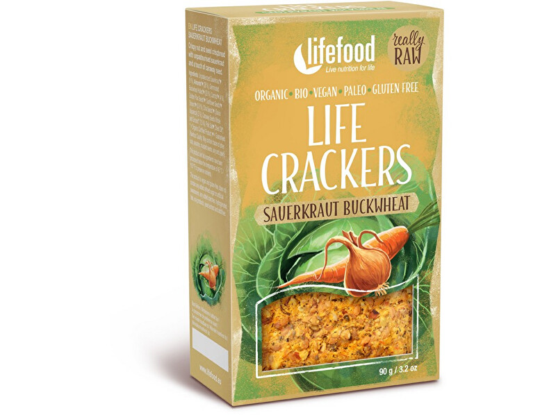 Lifefood Bio Life Crackers kapustníky RAW 90g