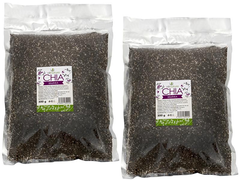 Chia semínka 500 g + 500 g ZDARMA