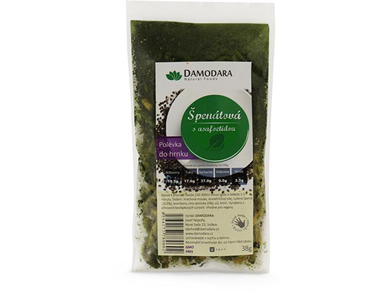 Zobrazit detail výrobku Damodara Instantní polévka do hrnku Špenátová s asafoetidou 38g