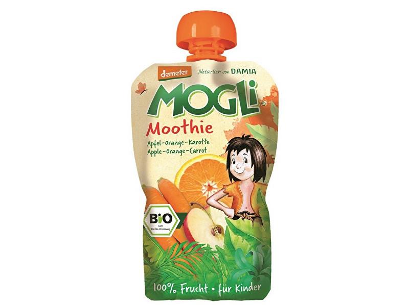 MOGLI Bio Ovocné pyré Moothie jablko pomeranč mrkev bez cukru 100g