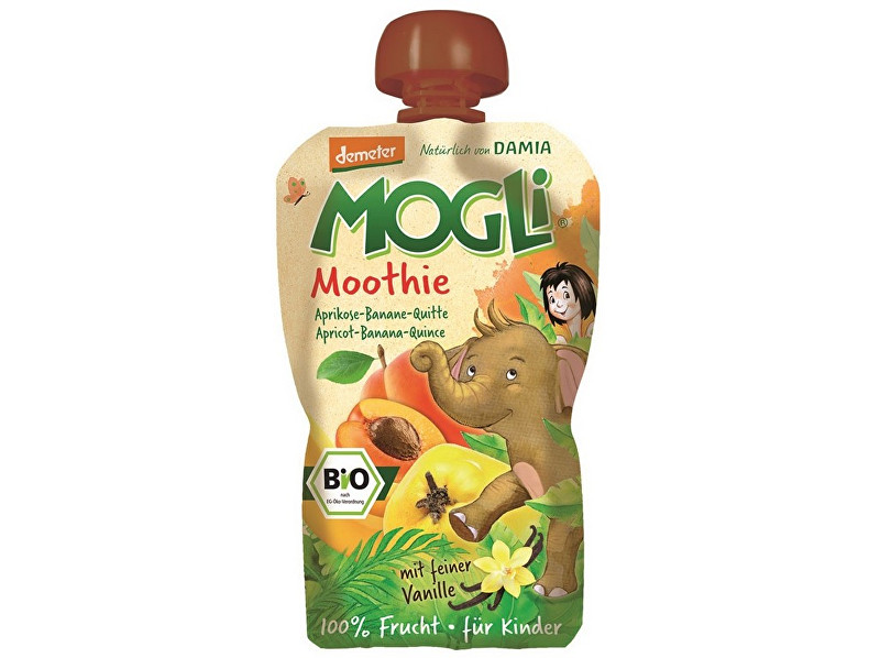 Zobrazit detail výrobku MOGLI Bio Ovocné pyré Moothie meruňka banán kdoule bez cukru 100g
