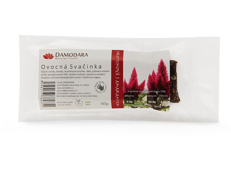 Zobrazit detail výrobku Damodara Tyčinka Ovocná svačinka proteinová s amarantem 60 g