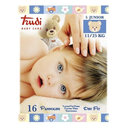Zobrazit detail výrobku Trudi Dětské pleny Dry Fit s vrstvou Perfo-Soft velikost Junior 11-25 kg 16 ks